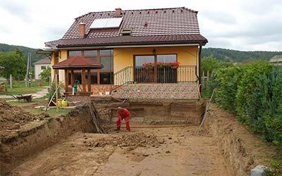 Prístavba pivnice k rodinnému domu